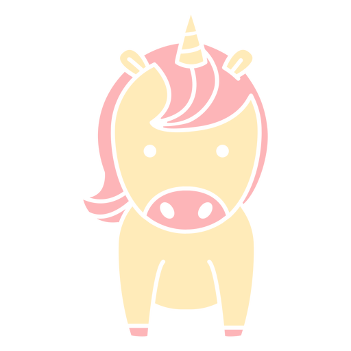 Lindo unicornio recortado Transparent PNG