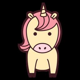 Lindo unicornio plano