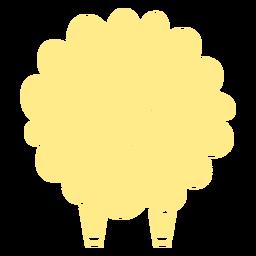 Linda oveja de espalda amarilla cortada