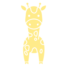 Cute yellow giraffe cut out