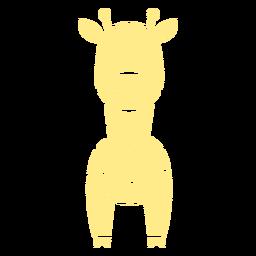 Linda jirafa amarilla recortada