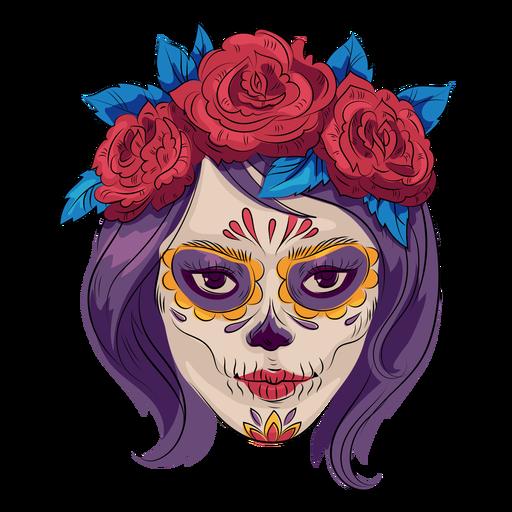 Dia de los muertos make up illustration Transparent PNG
