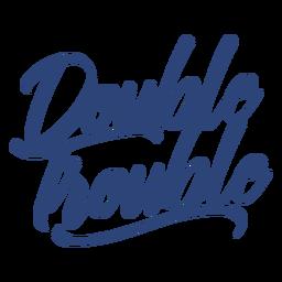 Letras azules de doble problema