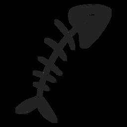 Esqueleto de peixe de halloween recortado