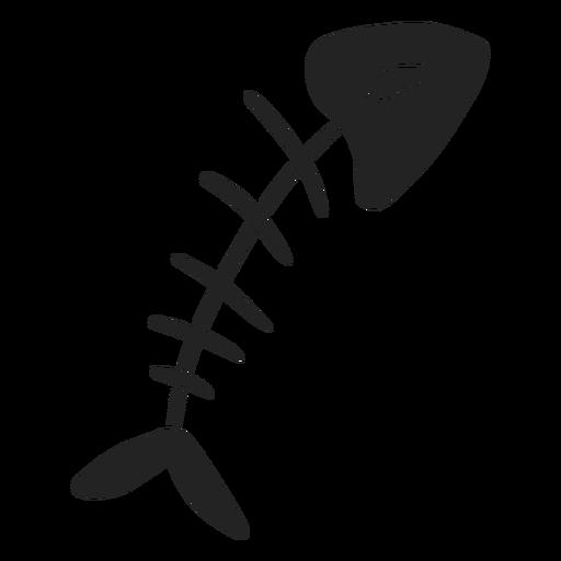 Esqueleto de peixe de halloween recortado Transparent PNG