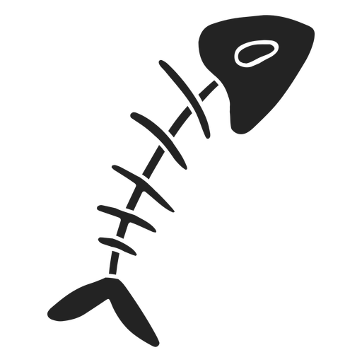 Fish skeleton halloween cut out