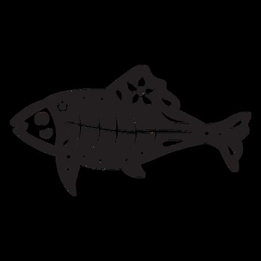 Cráneo de pescado cortado Transparent PNG