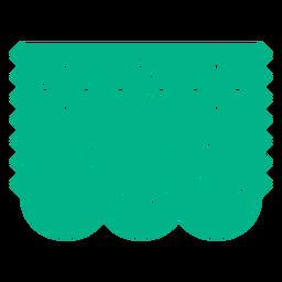 Flower pattern papel picado