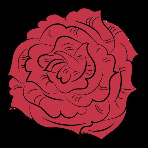 Flor rosa natureza desenhada à mão