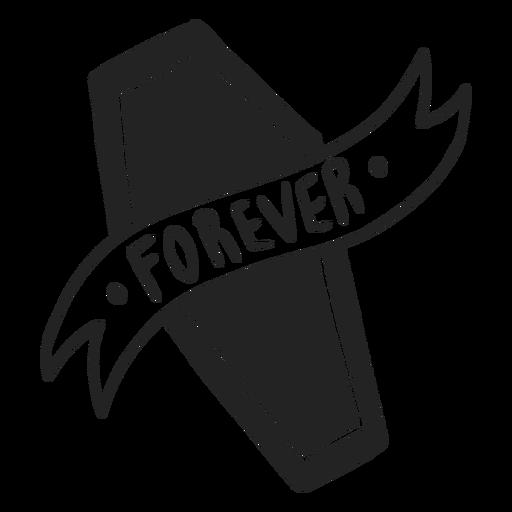 Forever coffin halloween stroke Transparent PNG