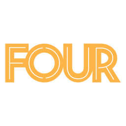Four cake topper