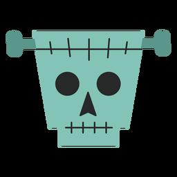 Frankenstein skull element flat
