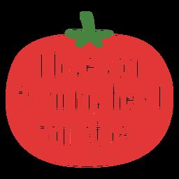 De letras de tomates de cabeza