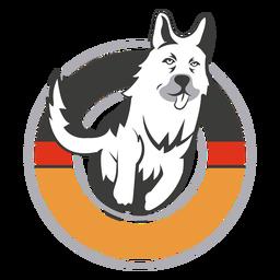 German shephard circle logo