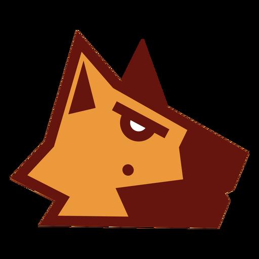 German shephard geometric logo
