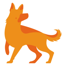 German shephard orange logo