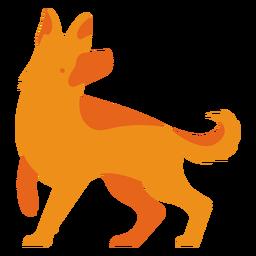 Logotipo da shephard laranja alemão