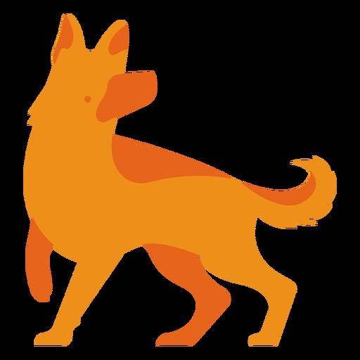 Logotipo naranja shephard alem?n