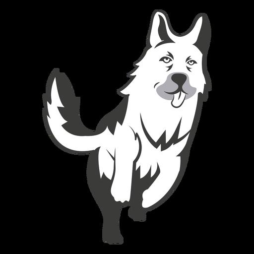 German shephard running logo Transparent PNG