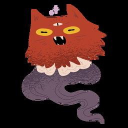 Criatura gato fantasma con textura