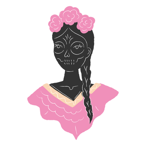 Girl with dia de los muertos look Transparent PNG
