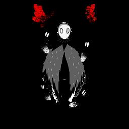 Personaje fantasma de criatura de Halloween