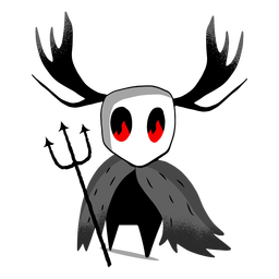 Halloween Kreatur Dreizack Charakter