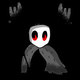 Personagem tridente criatura de Halloween