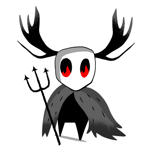 Halloween creature trident character Transparent PNG