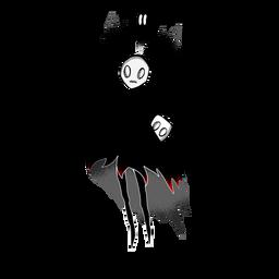 Personagem de criaturas de Halloween