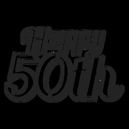 Feliz 50º bolo de coco