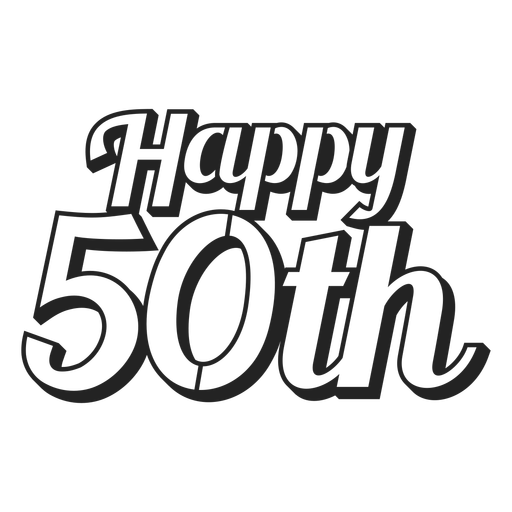 Happy 50th cake topper Transparent PNG