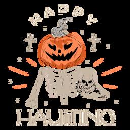 Happy haunting badge