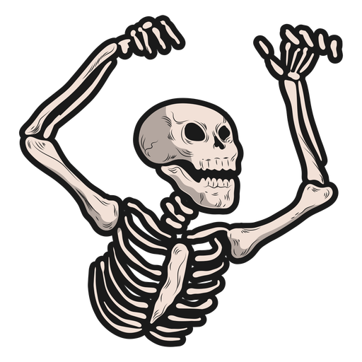 Haunting skeleton sticker