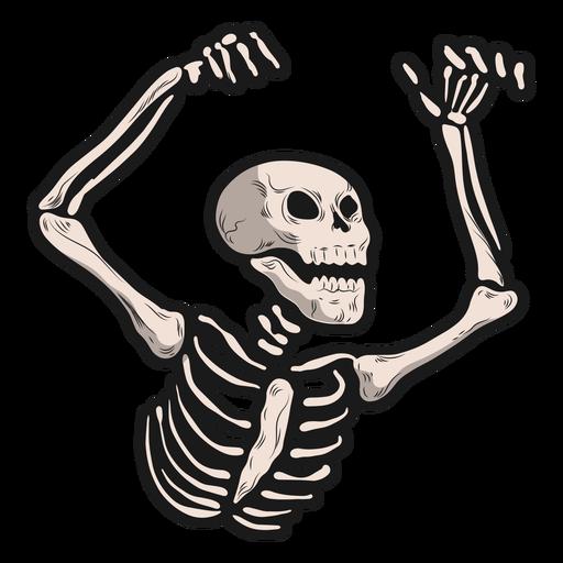 Pegatina esqueleto inquietante