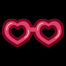 Heart glasses flat