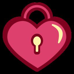 Heart lock flat