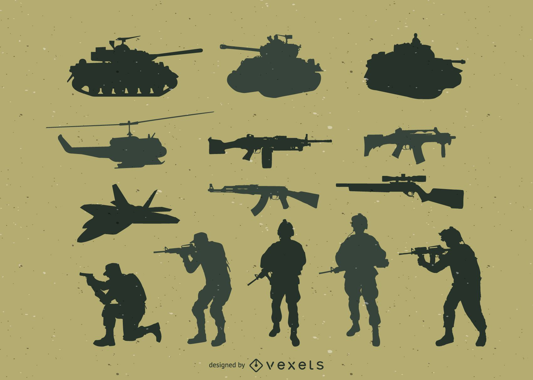 Paquete de vectores militares