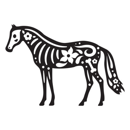 Horse skull cut out