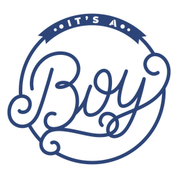 Its a boy ornate badge