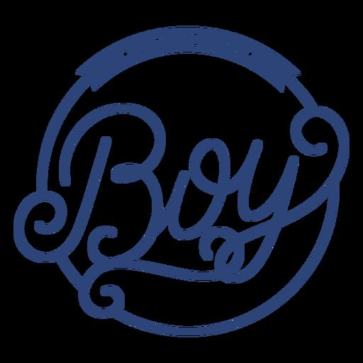 É um emblema ornamentado de menino