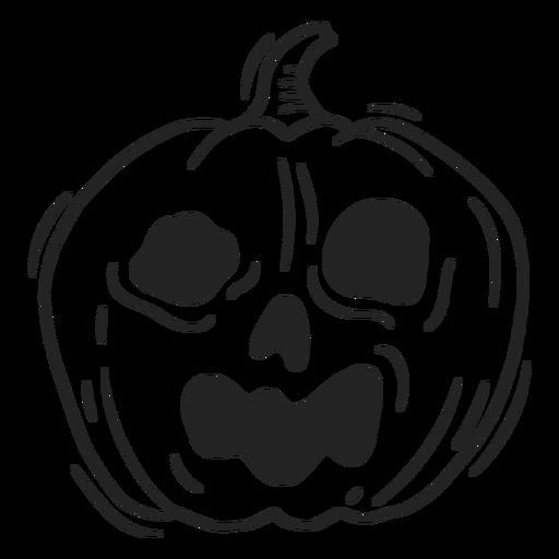 Jack o lantern halloween trazo