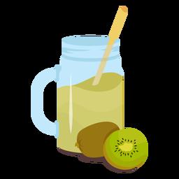 Plano de jugo de kiwi