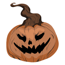 Laughing jack o lantern illustration