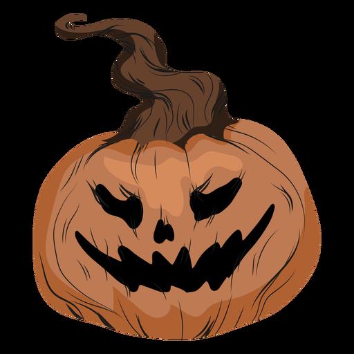 Ilustración de jack o lantern riendo