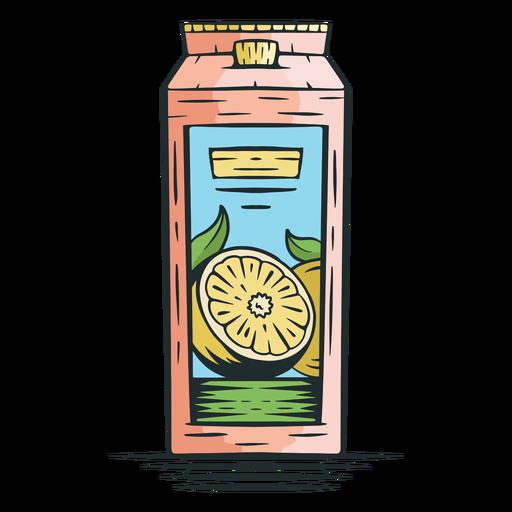 Lemonade carton hand drawn