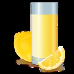Lemonade tall glass realistic design
