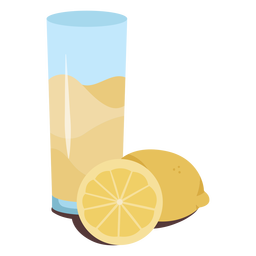 Lemonade with lemons flat