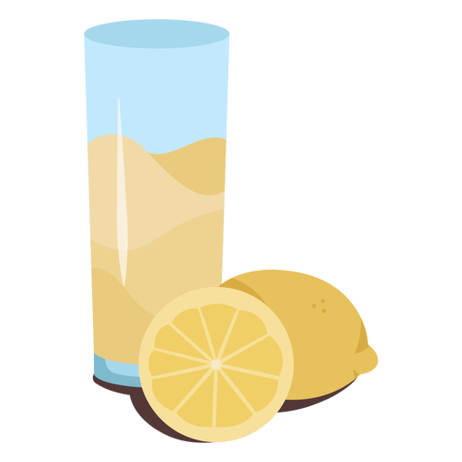 Lemonade with lemons flat