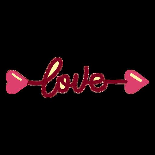 Amor flecha plana Transparent PNG